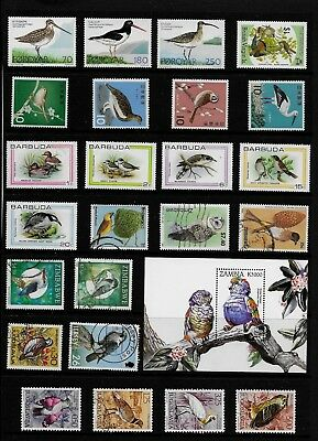 BIRDS Thematic STAMP Collection MINT USED Ref:TS588