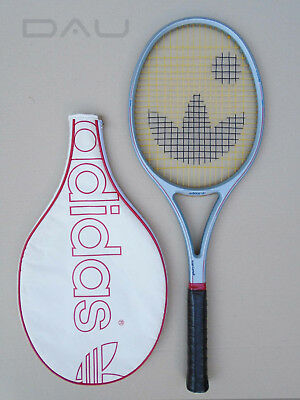 vintage 80s * ADIDAS Ivan Lendl CF 25-S Mid * racket in cover France EXCELLENT