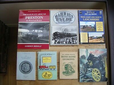 Collection Of  Seven Steam Train Railway Books - Lancashire - Preston - Fylde