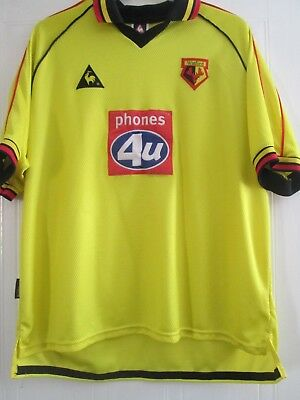 "Watford 1999-2001 Home Football Shirt  Size 46-48"" chest /43535"