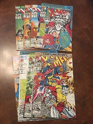 Lot of 8 Marvel The Uncanny X-Men #292-299 complete run comic books