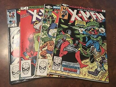 Lot of 4 Marvel The Uncanny X-Men Annuals #4-7 bronze age comic books