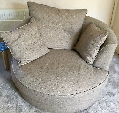Swivel Cuddle Chair Sofa Round Rotating
