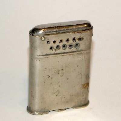 rare sparking 1929 art deco pollak windproof automatic pocket petrol lighter