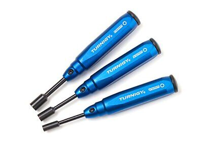 Turnigy V2 Series 4.5, 5.5, 7mm Metric Nut Driver Set 3pc Spring Steel Aluminum