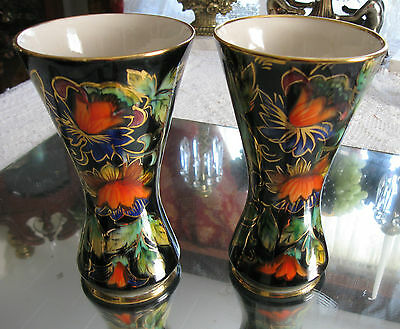 Gorgeous!!!  Pair Of  Antique/vintage  H. Bequet Porcelain Vases
