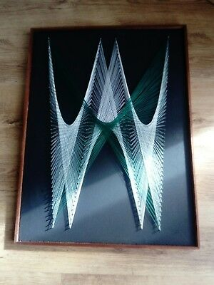 Vintage / Retro Pin / Nail String Art Picture - 1970's