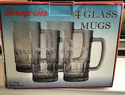Snap-on Limited Edition Glass Set of 4 18 Oz Glasses SSX07T123Q2