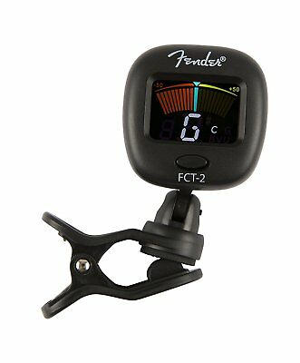Fender FCT-2 Color Clip-On Tuner for Guitar, Bass, Ukulele, Violin, 023-9979-000