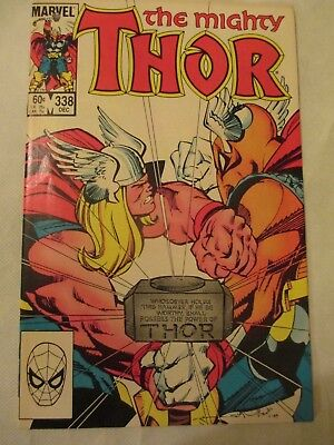 Thor issue 338 Marvel  Walter Simonson  Beta ray bill cover