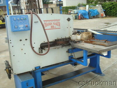 Chassis Maker Turret Punch Press w/ Tooling & Air Dryer