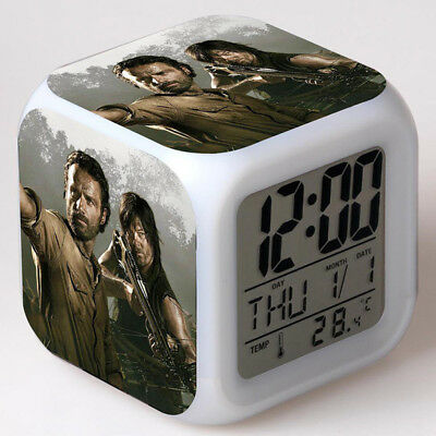 The Walking Dead Alarm Clock LED Colorful  Touch Light Temperature Desk Clock