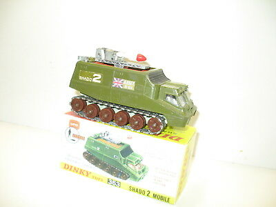 DINKY TOYS, char SHADO II, militaire anglais lance roquette