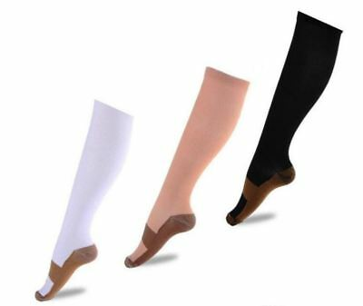 2-6 Pairs COPPER INFUSED COMPRESSION SOCKS 20-30 MMHG GRADUATED FOR MEN & WOMEN