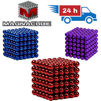 216 MAGNET COLOURED BALLS | Beads Neodymium Magnetic Sphere Cube LUXURY UK