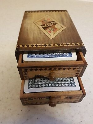Japanese Two Tier Card Box