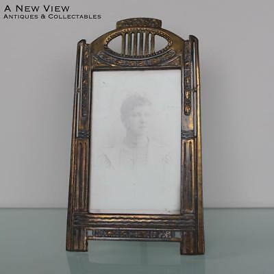 ANTIQUE ART NOUVEAU METAL PHOTO FRAME w/GLASS - $60.00 | PicClick