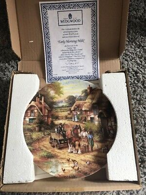 Wedgwood Country Days Early Morning Milk Collectors Plate