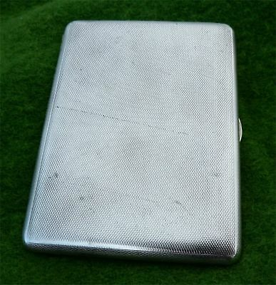 WEIGHTY VINTAGE SILVER CIGARETTE CASE BY DUDLEY RUSSELL HOWITT 1939 - 5.80 toz