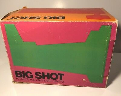 Polaroid Big Shot Portrait Land Camera Untested Original Box and Manual