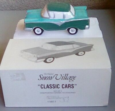 Dept 56 Snow Village classic cars only one of three