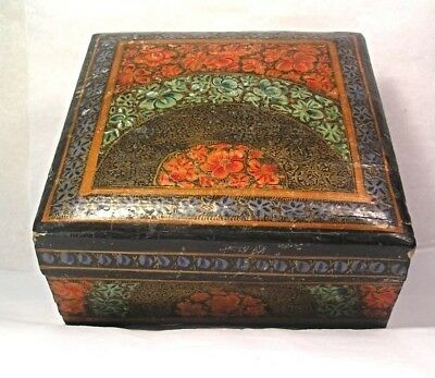 A Particularly Nice Asian Paper Mache Box M4
