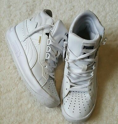 sports shoes 4bd98 9250c Puma Challenge Embossed High Top Sneakers Kicks 35839902 Kid s White Size  5.5