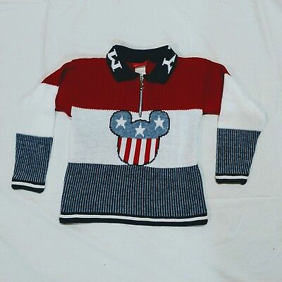 Unisex Girl's Boy's Mickey Mouse Disney Sweater. Red, White, Blue Disney Kids