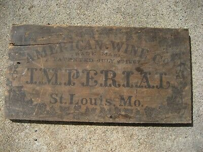 Antique Vintage Cook's Imperial Extra Dry Champagne Wood Crate Side - Rare