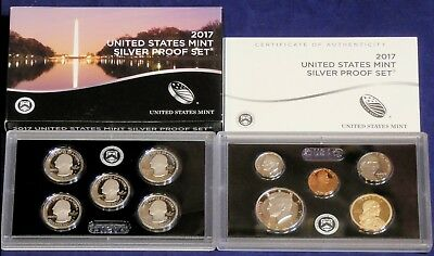 2017 United States Mint Silver Proof 10 Pc Set In Mint Packaging with COA #642C