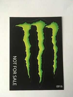 """2 Monster Energy Drink DECAL STICKERs """"4 x 3 inches"""""""