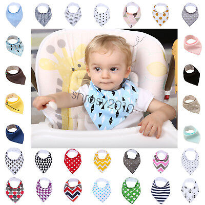 Unisex Kids Baby Feeding Head Scarf Towel Bib Bandana Saliva Triangle Dribble