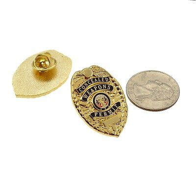 CWP Mini Badge Lapel Pin Concealed Weapons Permit Carry Permit CCP Tie Tac CCL