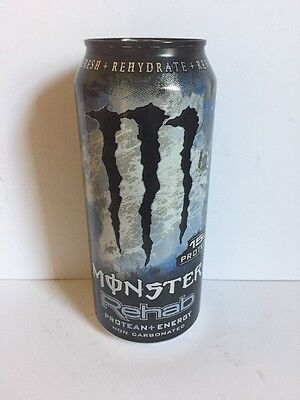Monster Energy Drink Rehab Protean 16oz Can. 1 Single Discontinued Can Lot