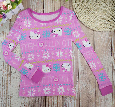 Toddler Kid Girls T-shirt Long Sleeve Tops  Clothes Size4-10