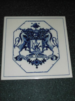 """Delft 6"""" X 6"""" Society Of The Apothcaries Tile"""