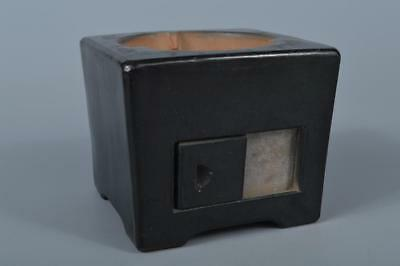 K8558: Japanese Old Kiyomizu-ware Unglazed earthenware RYORO Portable furnace