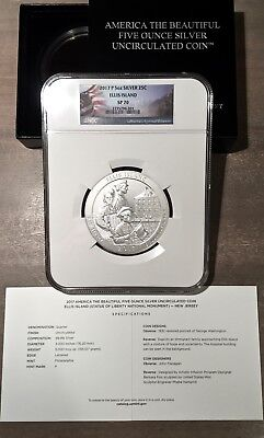 2017 P 5oz ATB ELLIS ISLAND NEW JERSEY NGC SP70  PERFECT SPECIMEN  SOLD OUT