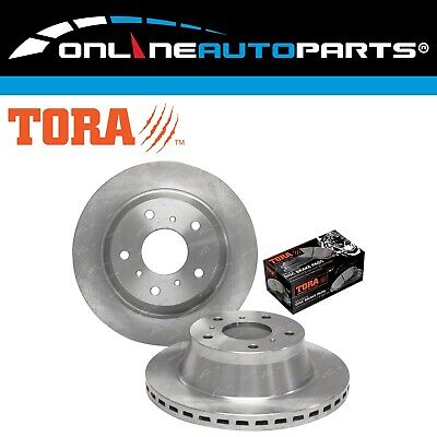 2 Front Disc Rotors +Brake Pads V6 V8 Commodore VR VS Statesman Caprice Calais