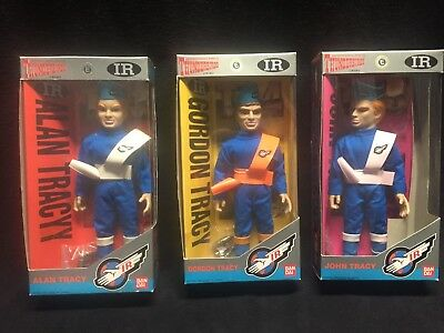 BANDAI Thunderbirds Alan Gordon John Tracy 1992 International Rescue Figures Lot