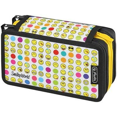 Herlitz Triple Decker SmileyWorld Rainbow Faces Etui Federmappe 31-teilig