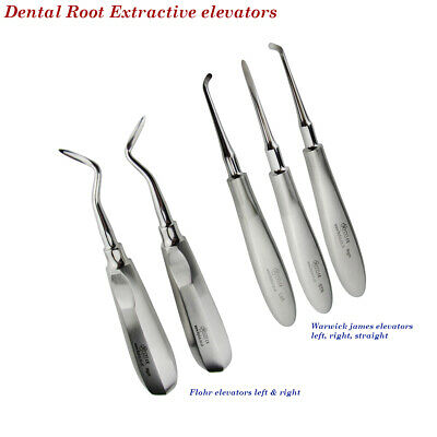 Surgical Dental Root Pick Extractive Elevators Warwick James Flohr For Removal