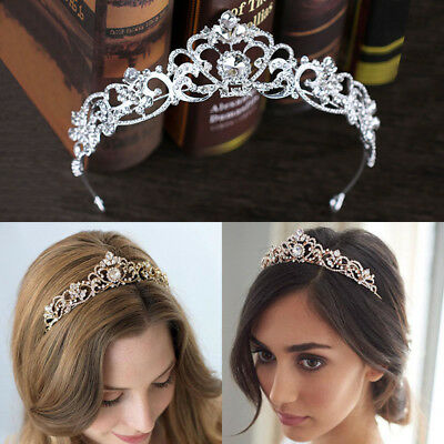 Bridal Crystal Rhinestone Hair Crown Headband Wedding Crowns Tiaras Headbands