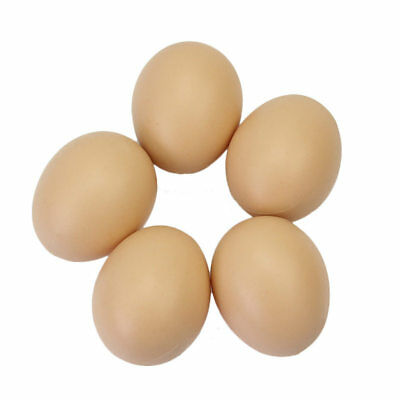 5Pcs Hen Poultry Plastic Fake Dummy Egg Chicken Layer Coop Cage Nesting Eggs