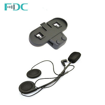 FDC Harte Kabel Mic Kopfhörer Headset + Clip Für T-COM VB/02 Interphone Intercom