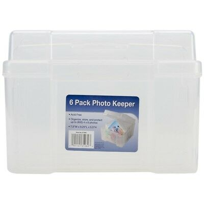 6 Pack Photo Storage Cases - Studios Clear x Keeper525x8x75 Advantus Ss61989