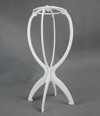 Accessoire perruque : stand repose perruque blanc
