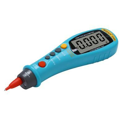 Blue Pen Style Digital Multimeter Voltage Detector With LCD Monitor