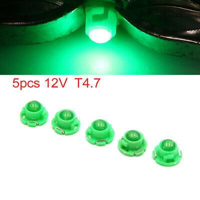 5pcs 12V Green T4.7 Car Wedge LED Dash Gauge Instrument Panel Light Interior