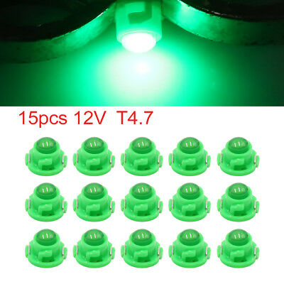 15pcs 12V Green T4.7 Car Wedge LED Dash Gauge Instrument Panel Light Interior